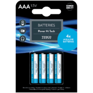 Tesco Power Hi Tech alkalické baterie AAA 4 ks