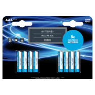 Tesco Power Hi Tech alkalické baterie AAA 8 ks