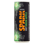 Tesco Spark Energy Drink Green Apple 250ml