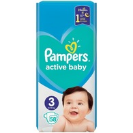 Pampers Plenky active baby