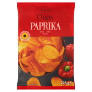 Tesco Chips paprika 225g