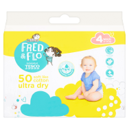 Tesco Fred & Flo Pleny Ultra Dry 4 Maxi 50 ks