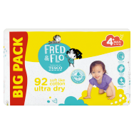 Tesco Fred & Flo Pleny Ultra Dry 4+ Maxi 92 ks