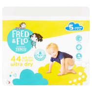 Tesco Fred & Flo Pleny Ultra Dry 5 Junior 44 ks