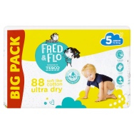 Tesco Fred & Flo Pleny Ultra Dry 5 Junior 88 ks