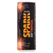 Tesco Spark Energy Drink Tropical 250ml