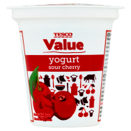 Tesco Value Jogurt višňový 125g
