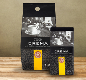 100% Arabica coffee crema